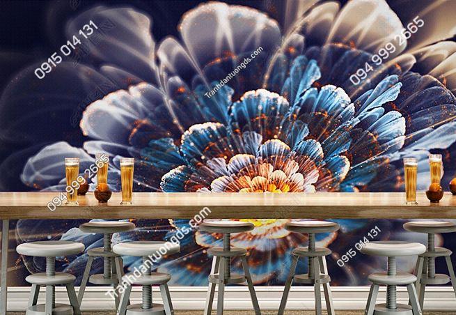 Tranh dán tường hoa 3D cho quán bar club DS_17305427