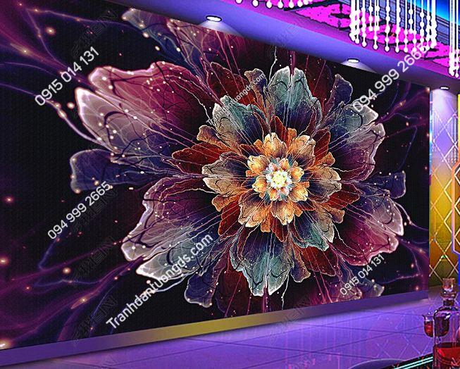 Tranh dán tường hoa 3D cho quán bar club DS_17311349