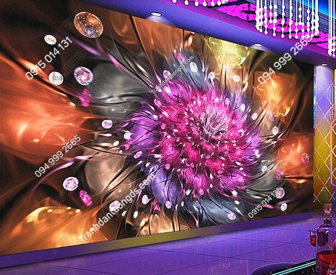 Tranh dán tường hoa 3D cho quán bar club DS_17341588