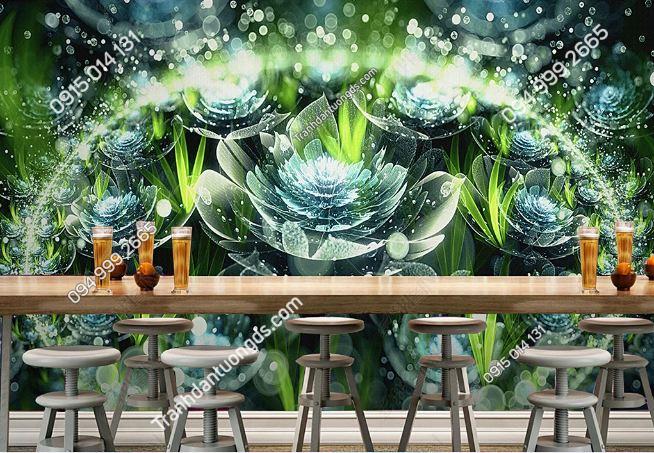 Tranh dán tường hoa 3D cho quán bar club DS_17341594
