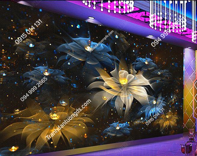 Tranh dán tường hoa 3D cho quán bar club DS_17341638