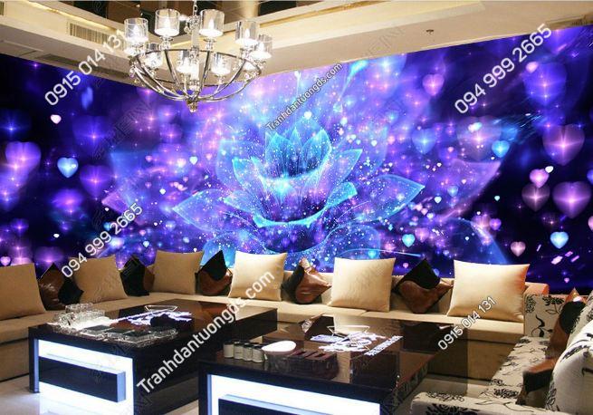Tranh dán tường hoa 3D karaoke DS_15170470