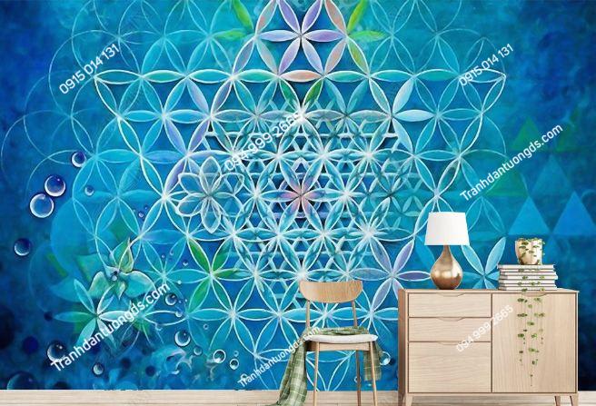 Tranh dán tường họa tiết phong cách Thái Lan DS_17428333