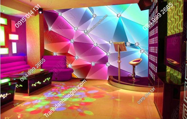 Tranh dán tường karaoke giả kính 3D DS_12535654