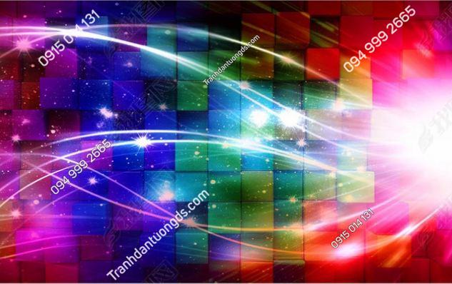 Tranh dán tường karaoke giả kính 3D DS_12761599