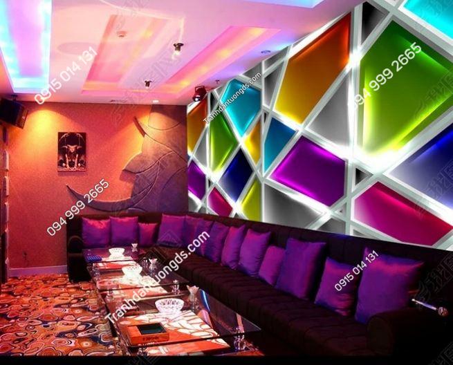 Tranh dán tường karaoke giả kính 3D DS_12947772