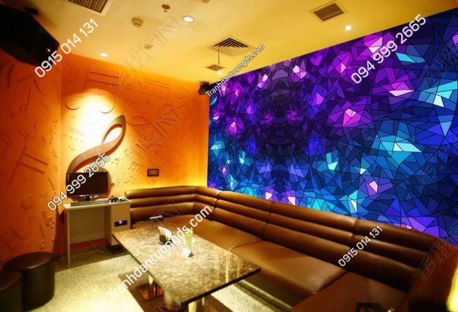 Tranh dán tường karaoke giả kính 3D DS_13695725