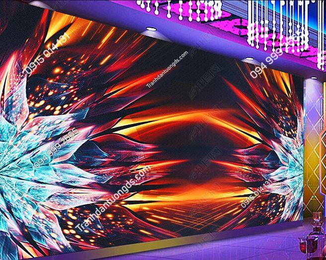 Tranh dán tường karaoke giả kính 3D DS_17304499