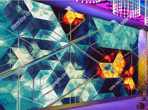 Tranh dán tường karaoke giả kính 3D DS_17305555