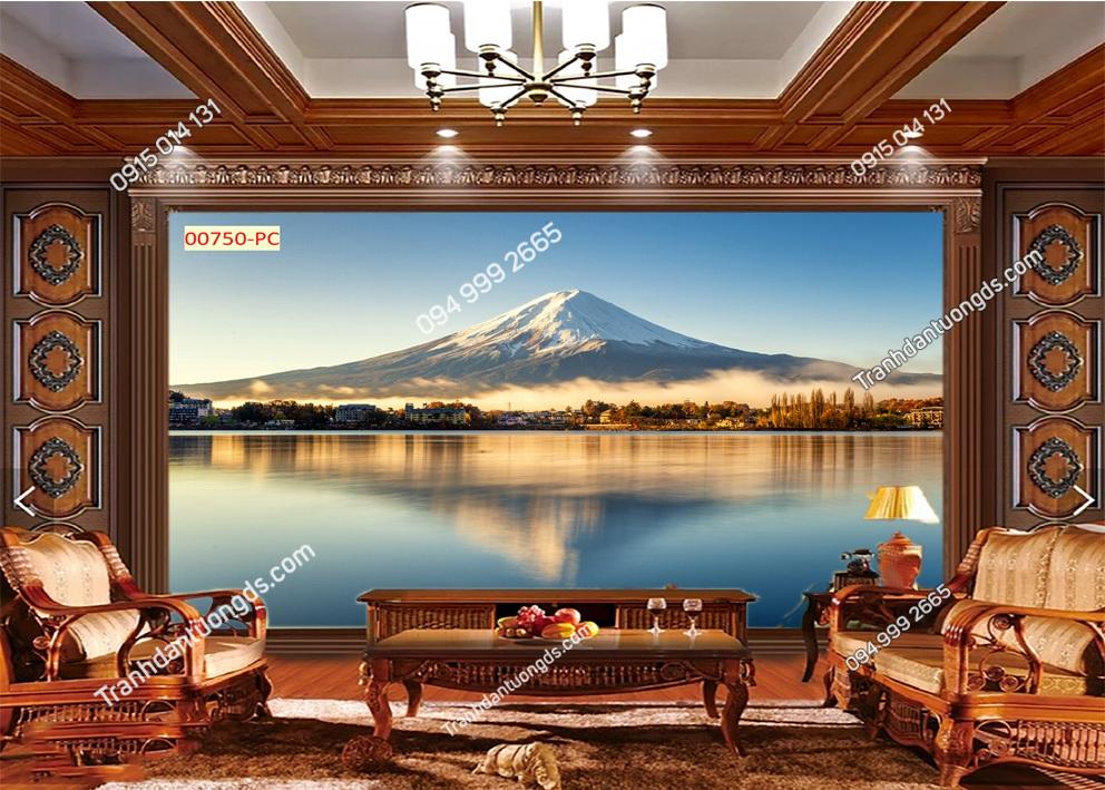 Tranh dán tường núi Phú Sĩ 00750