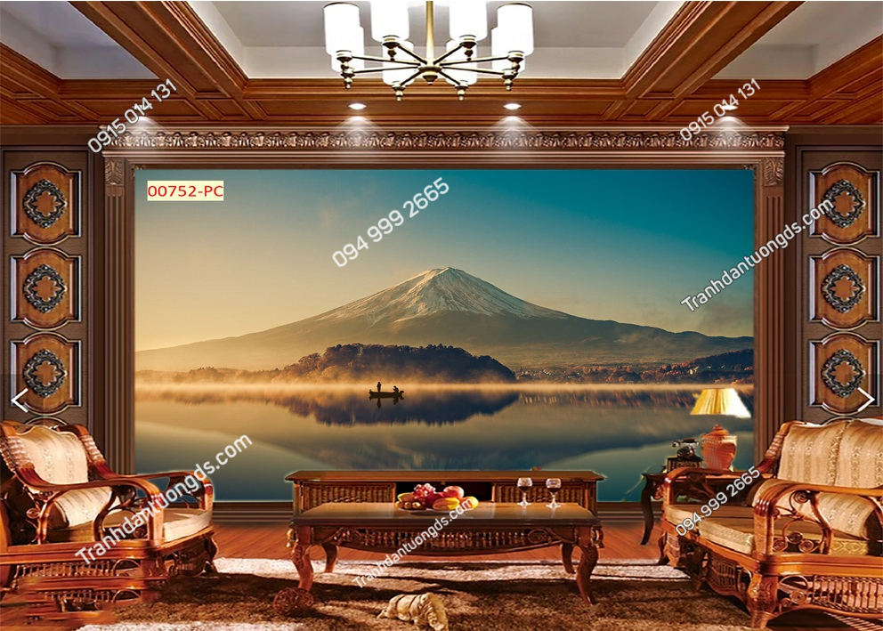 Tranh dán tường núi Phú Sĩ 00752