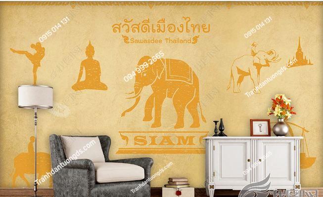 Tranh dán tường phong cách Thái Lan DS_15149653