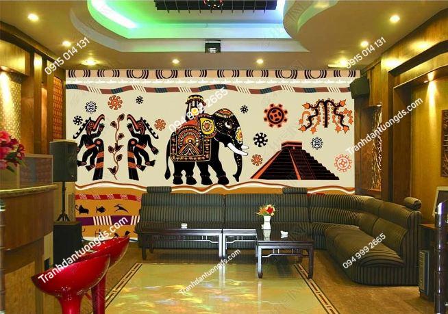 Tranh dán tường phong cách Thái Lan dán quán cafe DS_14954660