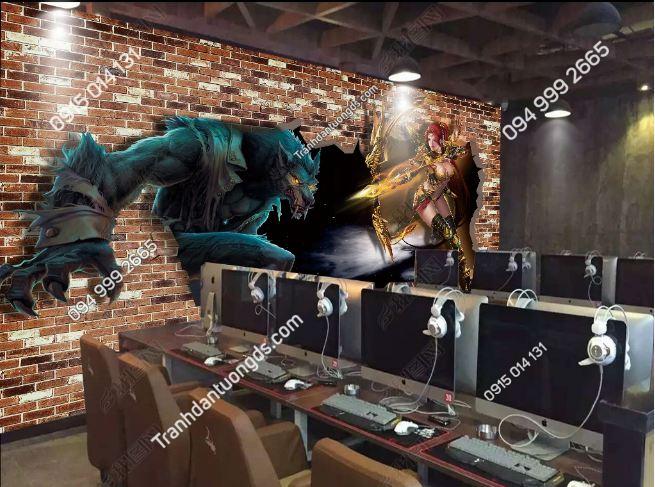 Tranh dán tường phòng game internet DS_17005255