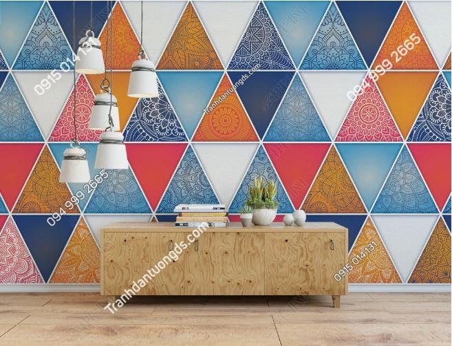 Tranh dán tường phòng game internet họa tiết tam giác DS_16900513