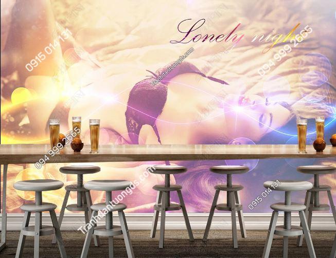 Tranh dán tường quán bar sexy girl DS_16790973