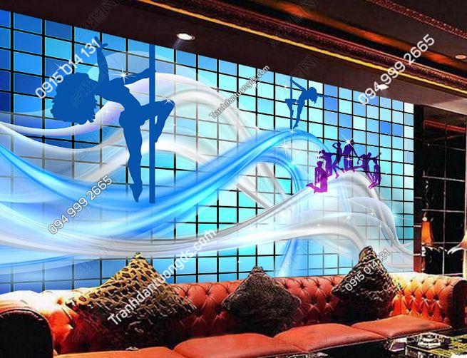 Tranh dán tường quán bar sexy girl DS_18398216