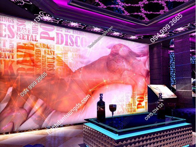Tranh dán tường quán bar sexy girl DS_18883882