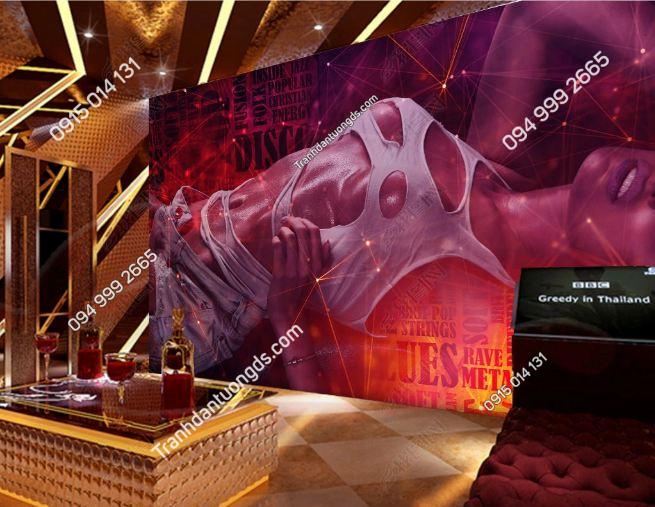 Tranh dán tường quán karaoke sexy girl DS_18883873