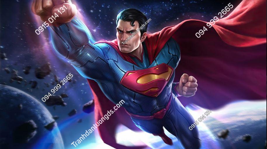 Tranh dán tường trang trí phòng game superman-arena-of-valor