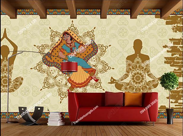 Tranh dán tường yoga spa phong cách Thái Lan DS_16414128