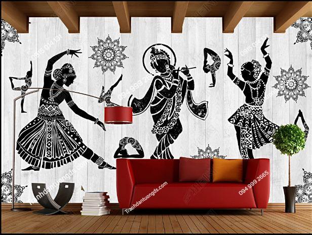 Tranh dán tường yoga spa phong cách Thái Lan DS_16505113