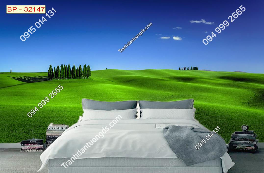 Tranh đồi cỏ xanh tuyệt đẹp 32147