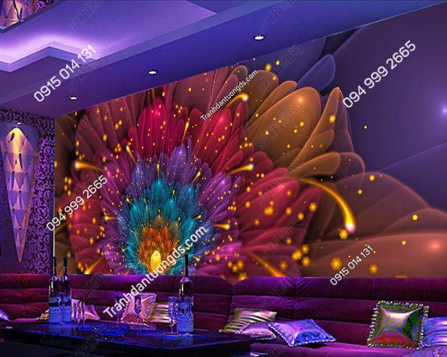 Tranh hoa rực rỡ 3D cho quán bar karaoke DS_15170483