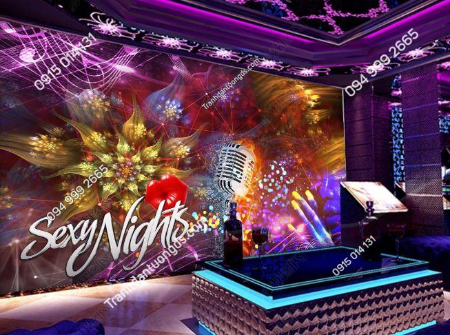 Tranh hoa sexy night cho quán bar karaoke DS_18921243