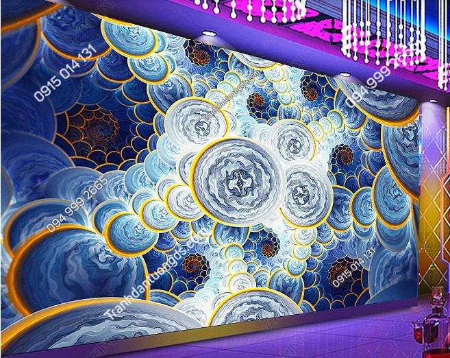 Tranh họa tiết 3D cho quán bar karaoke DS_17426889