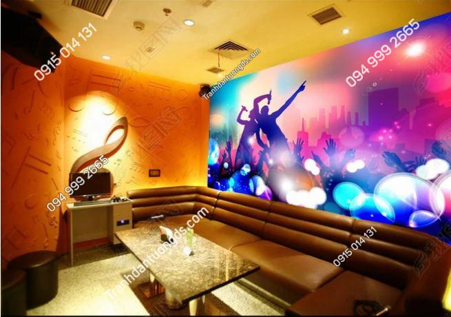Tranh họa tiết 3D màu sắc cho quán bar karaoke DS_13697099