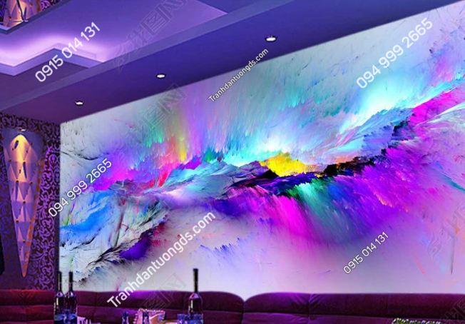 Tranh họa tiết 3D màu sắc cho quán bar karaoke DS_14639347