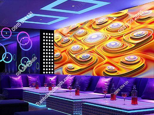Tranh họa tiết 3D màu sắc cho quán bar karaoke DS_17304591