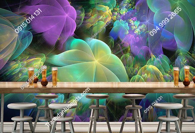 Tranh họa tiết 3D màu sắc cho quán bar karaoke DS_17341635