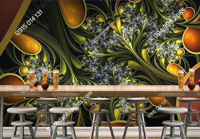 Tranh họa tiết 3D màu sắc cho quán bar karaoke DS_17342146