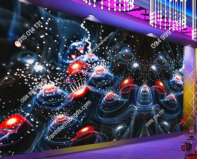 Tranh họa tiết 3D màu sắc cho quán bar karaoke DS_17342489
