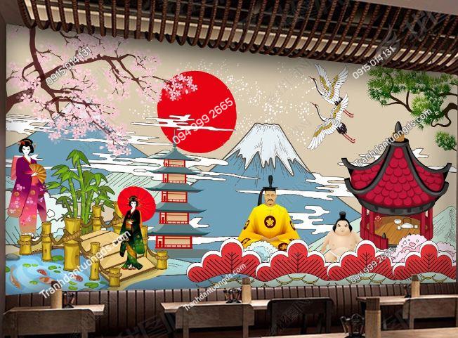 Tranh họa tiết Nhật Bản DS_18656378