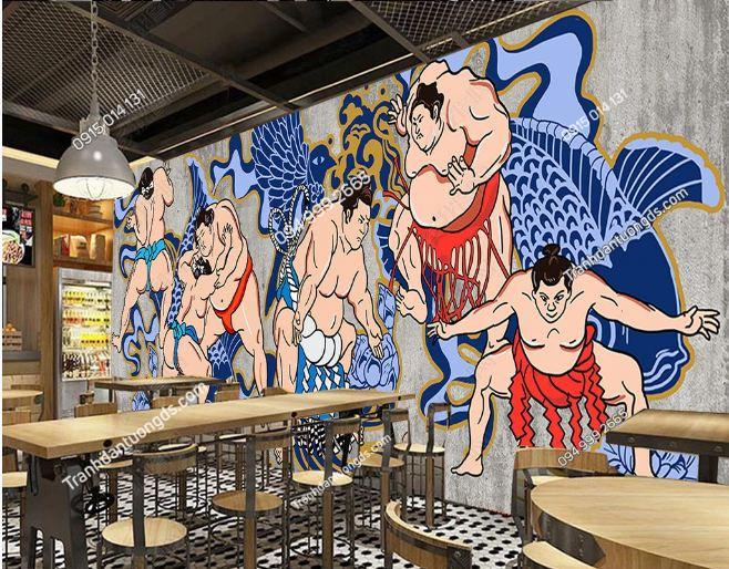 Tranh họa tiết Nhật Bản dán quán ăn DS_16354650