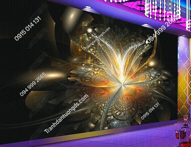 Tranh họa tiết hoa 3D cho quán bar karaoke DS_17305384