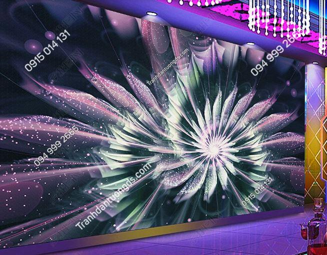 Tranh họa tiết hoa 3D cho quán bar karaoke DS_17341731