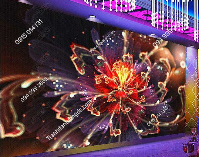 Tranh họa tiết hoa 3D cho quán bar karaoke DS_17342557