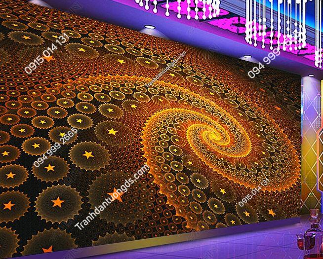 Tranh họa tiết hoa 3D cho quán bar karaoke DS_17342654