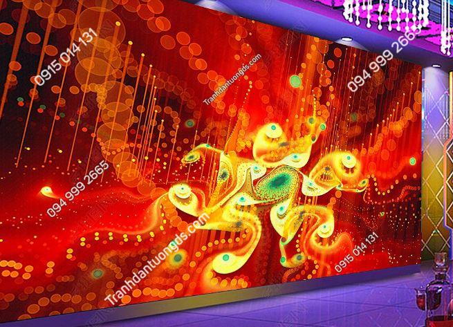Tranh họa tiết hoa 3D cho quán bar karaoke DS_17345271