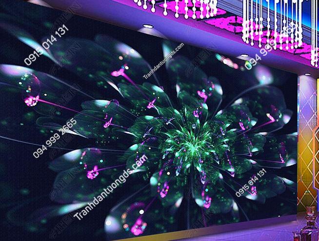 Tranh họa tiết hoa 3D cho quán bar karaoke DS_17345332