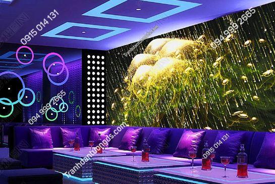 Tranh họa tiết sứa biển 3D cho quán bar karaoke DS_17341956