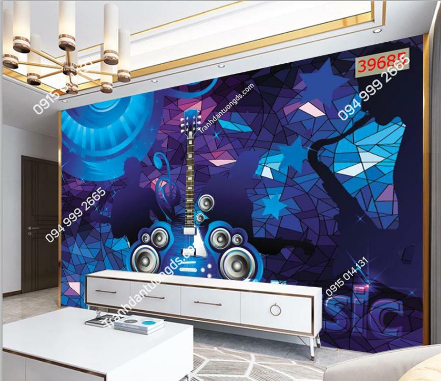 Tranh khối 3D cho quán bar karaoke 39685