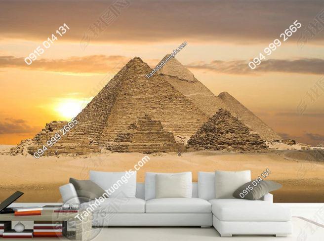 Tranh kim tự tháp ai cập dán tường sau sofa DS_13680447