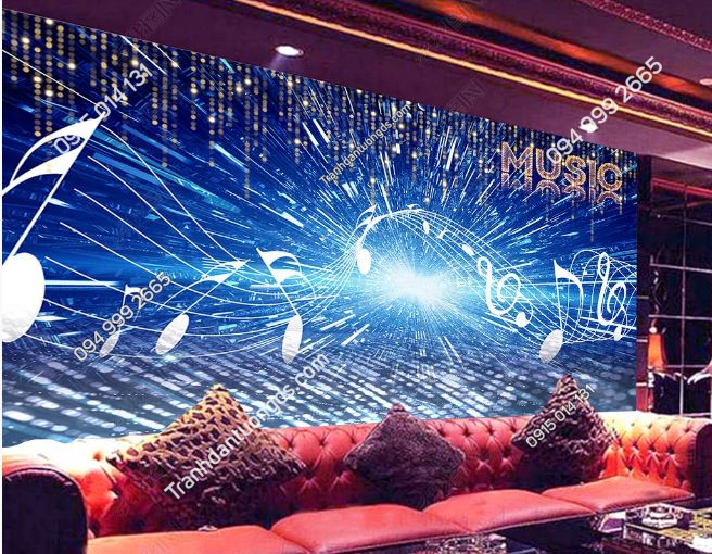 Tranh nốt nhạc 3D cho quán bar karaoke DS_23807138