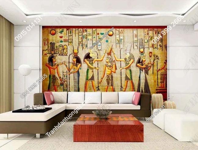 Tranh phong cách ai cập dán tường phòng khách DS_12609601