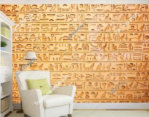 Tranh phong cách ai cập dán tường phòng khách DS_14980412